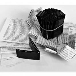 Alkotói csomag fekete-fehér kistáska készítéshez