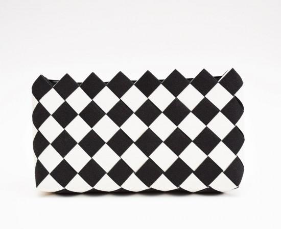 Fekete-fehér tapéta clutch