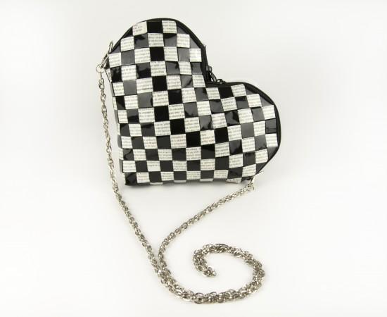 HEARTBAG Pepita szív alakú táska