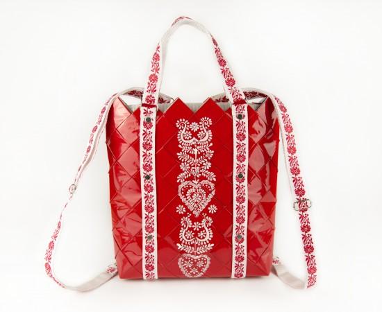 2in1 hátizsák és kézitáska REFOLK RED