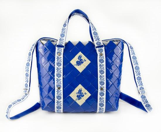 2in1 hátizsák és kézitáska REFOLK BLUE