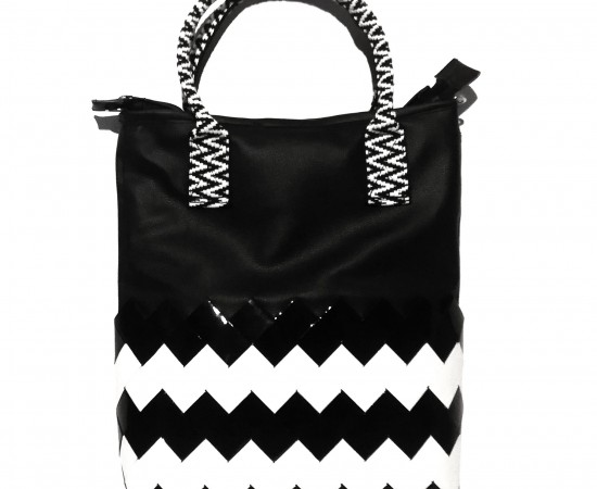Refusion Black and White  3in1 hátizsák, kéztiáska és válltáska